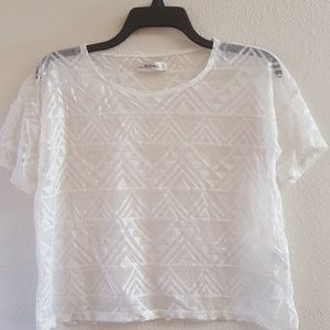 Abercrombie and Fitch mesh crop shirt